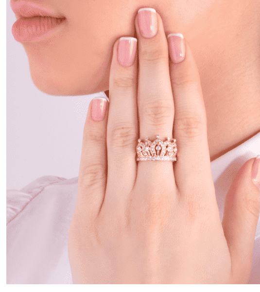 кольца в виде короны из золота