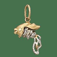 Золотой кулон Рыбка. Фото и цены