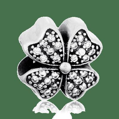 Срібний кулон-шарм в стилі Пандораз фіанітами