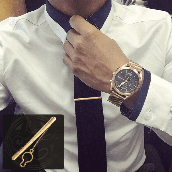 Золотые зажимы для галстука. В каталоге.