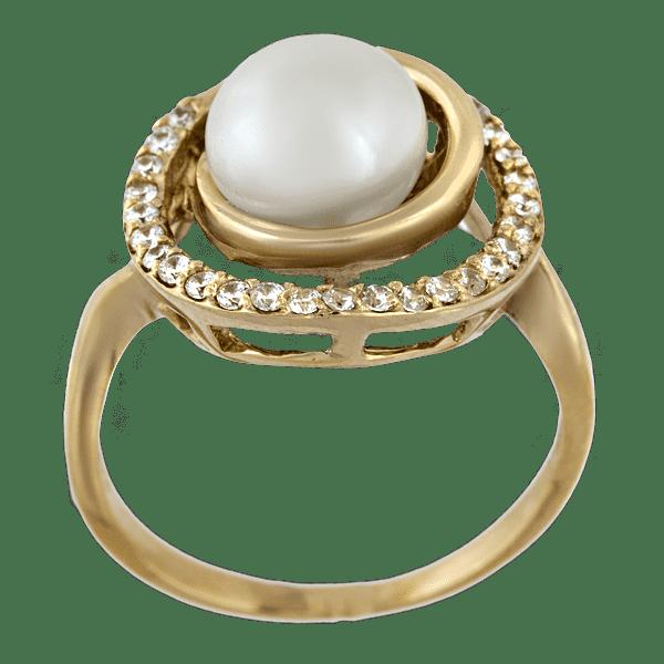 Купить золотое кольцо с жемчугом