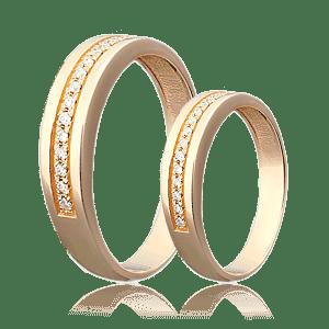 Где заказать обручальные кольца с бриллиантом