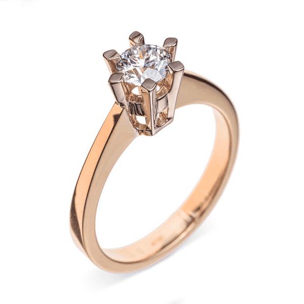 cba429b62be2 Фото и цены на сайте Кольцо корона с бриллиантом. Купить в интернет-магазине